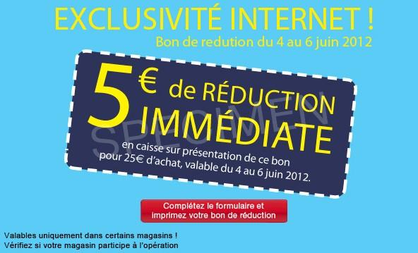 bon de reduction 5 euros Franprix