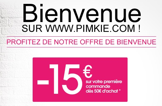 15 euros gratuit PIMKIE