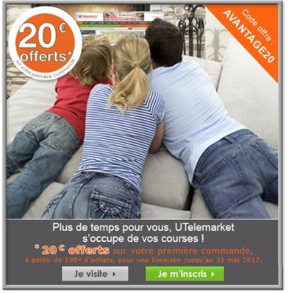 20 euros offerts Utelemarket