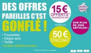 Aubert bon achat 15 euros tous les 50 euros