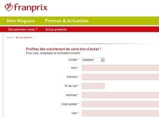 Reduction 5 euros Franprix