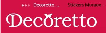 Decoretto stickers muraux