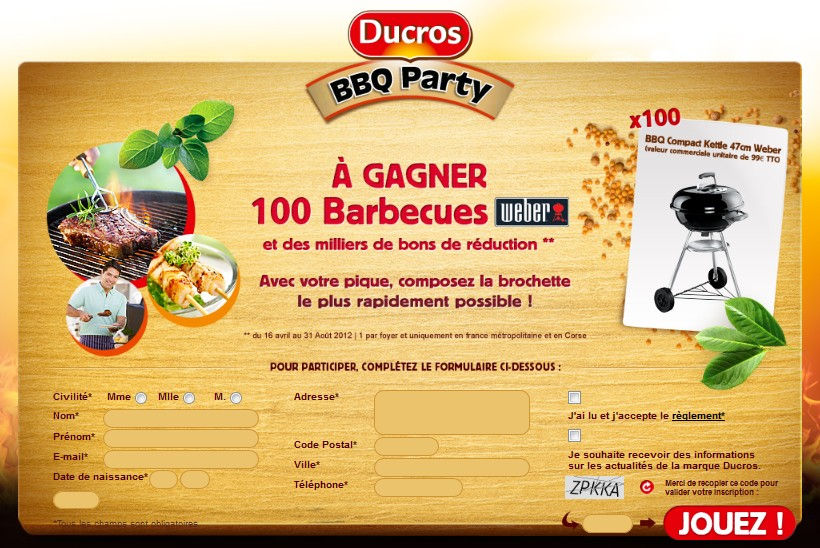 concour gagner des barbecue