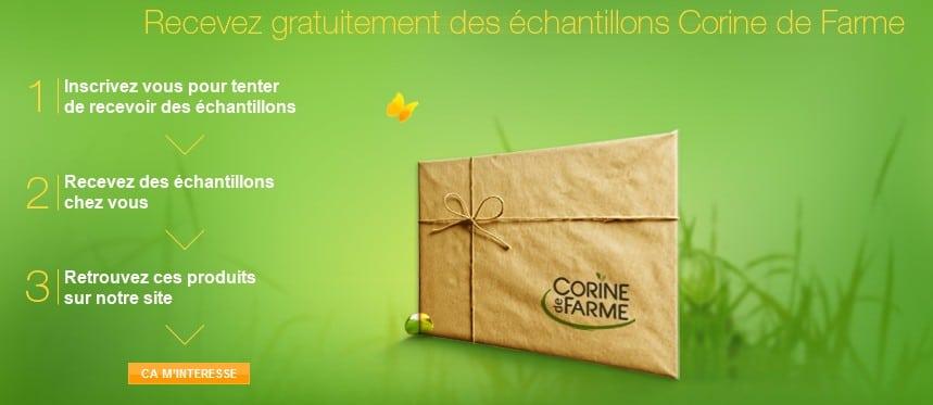 Echantillons gratuits Corinne de Farme