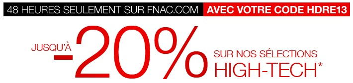 Code avantage FNAC -20%