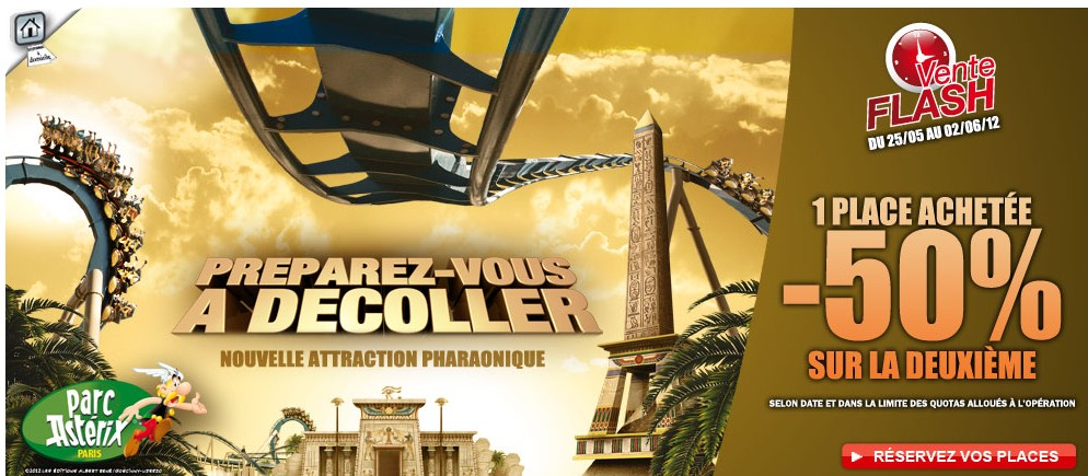 Vente flash parc Asterix