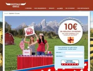 10 euros de reduction Buffalo Grill