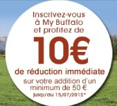 10 euros de reduction my buffalo grill 10 euros de réduction immédiate chez Buffalo Gril
