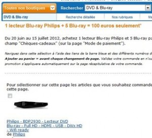 100 euros lecteur Blu ray Philips plus 5 films