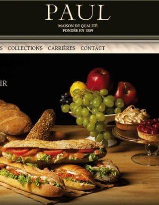 Offre ticket restaurant PAUL un menu achete le 2eme a moitie prix