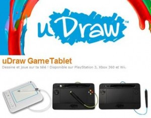 SOLDES uDraw Game Tablet PlayStation3 Xbox360 Wii