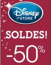 Soldes Disney Store moins 50 pourcents
