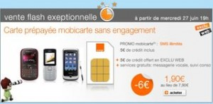 VENTE FLASH Carte SIM prepayee orange 1,90 euro