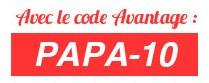 code avantage fete des peres 10 pourcents patiwizz