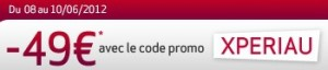 code reduction Virgin Mobile Sony Xperia U