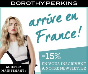 Dorothy Perkins France moins 15 pourcents