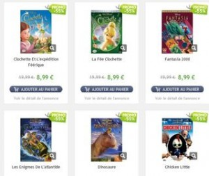 DVD classics  disney a 9,99 euros vente flash