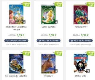 DVD classics disney a 9,99 euros vente flash