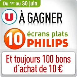 gagner une TV ecran plat Philips Magasin U