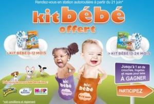kit bebe gratuit dans les stations TOTAL