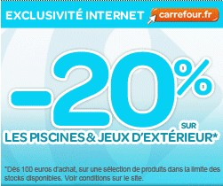 Code promotionnel carrefour for Piscina bebe carrefour