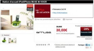 station acceuil muse ipod iphone M103GR a 30 euros