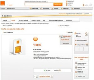 vente flash carte sim orange prepaye