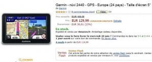 vente flash gps Garmin nuvi 2440 avec carte europe 129,99 euros port inclus