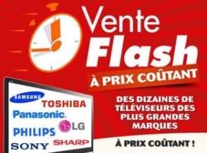 vente flash televiseurs a prix coutant