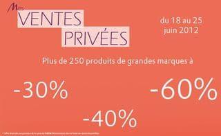 ventes privees parfumerie marionnaud juin 2012