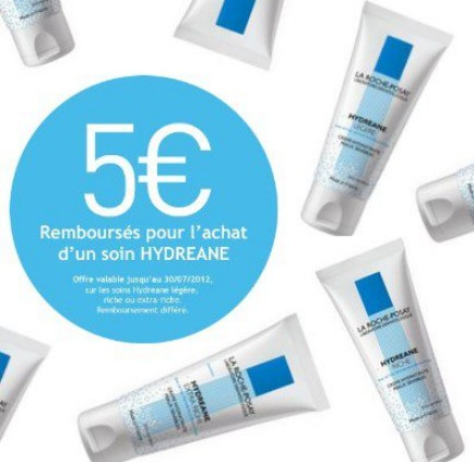 5 euros remboursés pour l'achat d'un produit Hydreane de La Roche-Posay