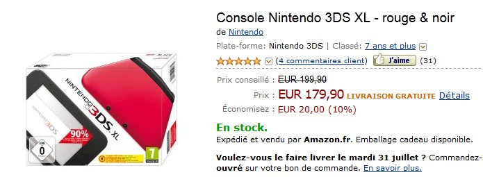 La Console Nintendo 3DS XL à seulement 179,90  - STOCK LIMITE