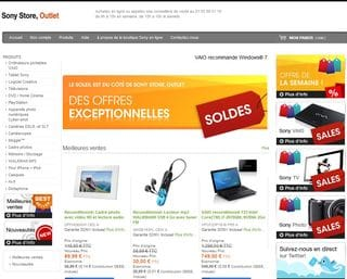 SOLDES chez Sony Store Outlet + code promo 5% supplémentaire