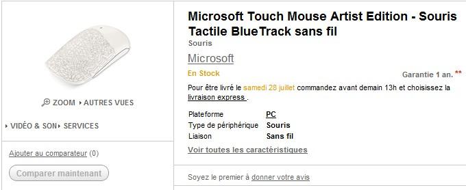 VENTE FLASH ! souris  Microsoft Touch Mouse sans fil