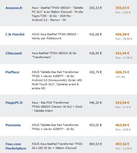 Bon plan tablette asus eed pad clavier a 360 euros port compris - Prix moins cher du net ...