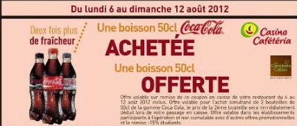 Coupons reduction coca cola
