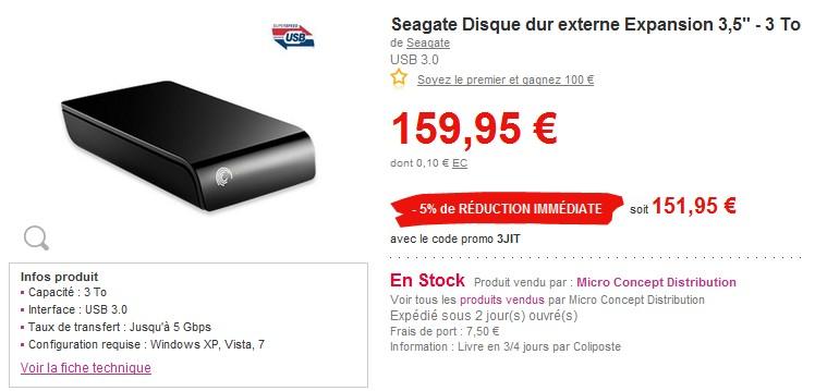 pas cher disque dur externe 3to a moins de 160 euros. Black Bedroom Furniture Sets. Home Design Ideas