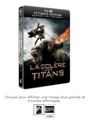 La Colère des Titans - coffret métal  Blu-ray + DVD à seulement 19,99 euros (frais de port inclus)