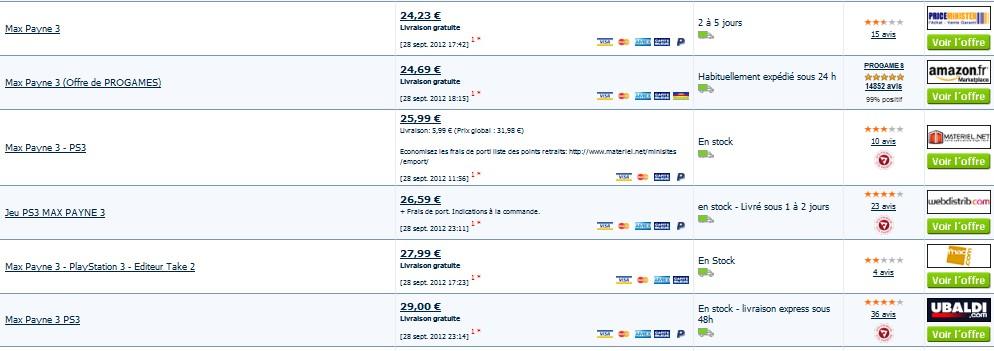 Promo max payne 3 a seulement 20 09 euros port inclus - Prix moins cher du net ...