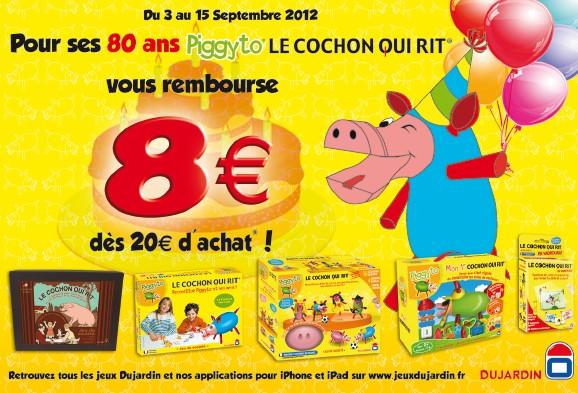 BON PLAN: 8 euros remboursés sur l'achat du Cochon qui Rit jusqu'au 15 septembre