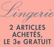 CODE PROMO AMAZON ! 2 articles Lingerie achetés = le troisième gratuit