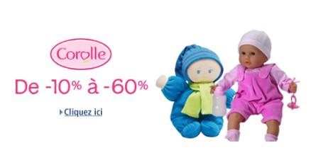 SUPER PROMO : Jusqu'à -60% sur les poupons, poupées et accessoires Corolle – QUANTITE LIMITEE