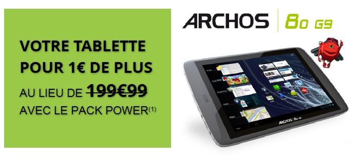 Votre tablette pour 1€ de plus au lieu de 199€99 avec le pack Power Numericable