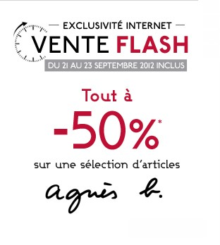 Vente flash agn s b chez galeries lafayette - Vente flash internet ...