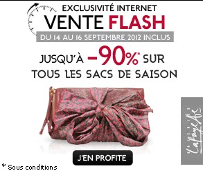 Vente flash jusqu 39 a 90 sur les sacs a mains galeries lafayette - Vente flash internet ...