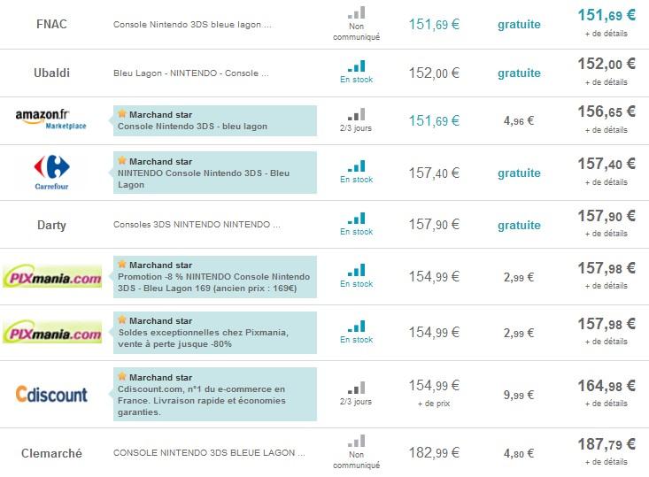 Nintendo 3DS Nintendo la moins chere sur internet en ce moment Super offre ! Nintendo DSi XL à seulement 139 euros (port compris)