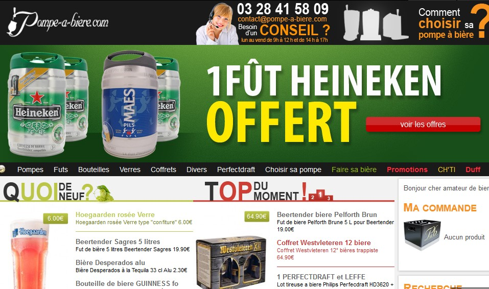 fut de bi re heineken 5l gratuit pour l 39 achat d 39 un fut. Black Bedroom Furniture Sets. Home Design Ideas