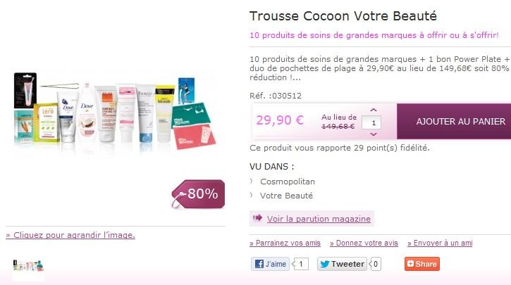 Promo : 10 produits soins femme de marque + trousse de toilette à seulement 29,90 euros au lieu de 149.68 euros (80% de réduction)