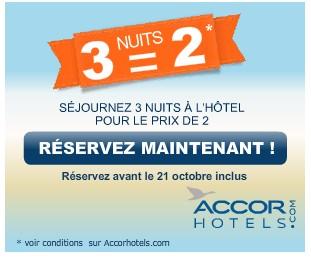 Promo hotel 3 nuits pour le prix de 2 for Les prix des hotel