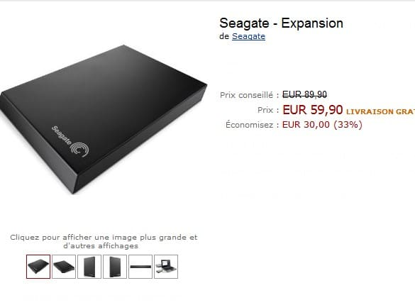 vente flash disque dur externe 500go usb 3 0 a moins de 60 euros. Black Bedroom Furniture Sets. Home Design Ideas